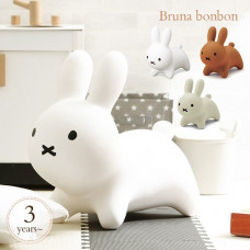 日本 ides Miffy Bruna Bonbon Soft Bounce Chair 兒童/成人乘騎玩具/蹦蹦跳充氣座椅(白色)