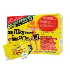 日本MINAMI 強效氨基酸瘦身纖體丸 目標減重10KG + 減脂肪20%