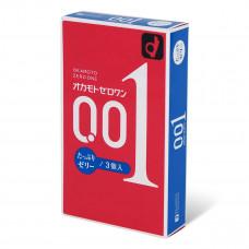 Okamoto 岡本 0.01 潤滑加量安全套(3片裝)